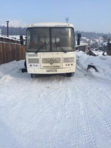 автобус ПАЗ Архангельск -Усть - Кут февраль 2021
